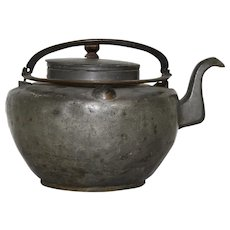 Chinese Pewter Teapot with Lid