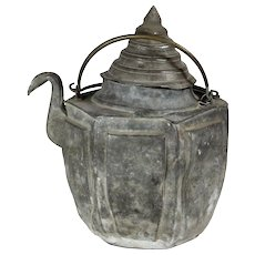 Pewter Chinese Teapot