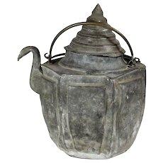 Pewter Chinese Teapot