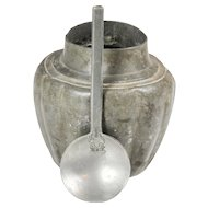 Pewter Jar and Spoon