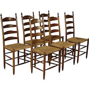 Chairs with Rush Seats Set/6