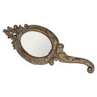Carved Hand Mirror