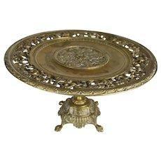 Bronze Pedestal Tray