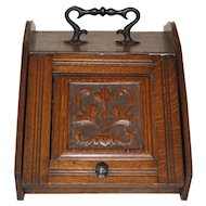 Wood Coal Scuttle Bin/Box