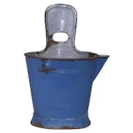 Blue Enamel Bucket