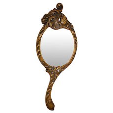 Louis XV Carved Hand Mirror