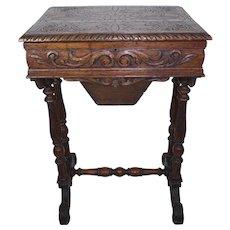 Oak Sewing Table