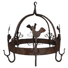 Hanging Iron Chicken Rack