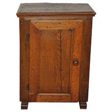 Small Rustic Oak Cabinet