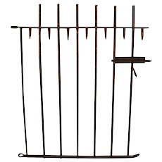 Red Picket Iron Garden Gate