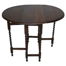 Oval Oak Gate Leg Table