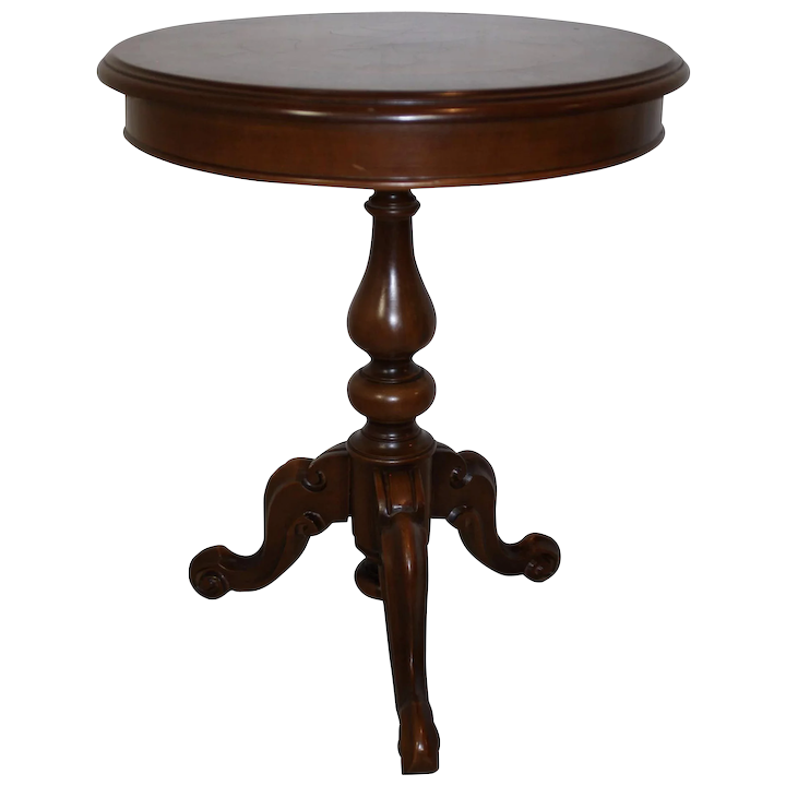 Round Side Table Ski Country Antiques, Small Round Antique Side Table