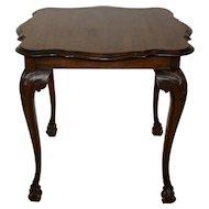 Louis XV Square Oak Side Table
