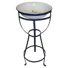 Wash Stand with Enamel Basin