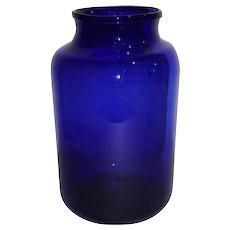 Cobalt Blue Candy Jar