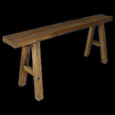Small Mortise and Tenon Joint Oak Farm Bench