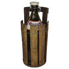 Nassjo Brewery Swedish Beer Bottle with Wooden Bucket