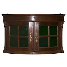 Hanging Corner Cabinet with Glass Doors