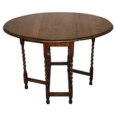 Oval Oak Gate Leg Table