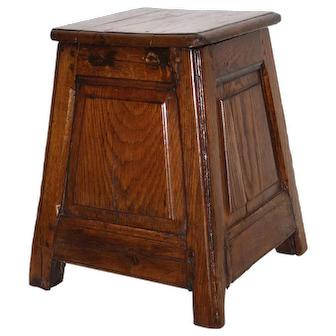 Small Square Side Table with Storage
