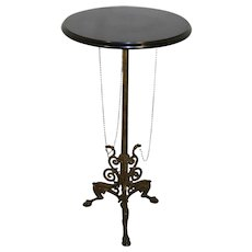 Napoleon III Cast Iron Table with Marble Top