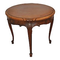 Round Louis XV Oak Side Table
