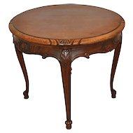 Round Louis XV Oak Side Table