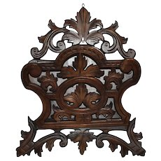 Wall Mounted Carved Letter Holder