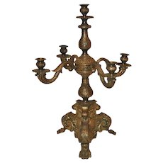 Bronze Rococo Candelabra