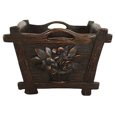 Carved Wood Bucket