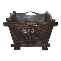 Carved Wooden Bucket