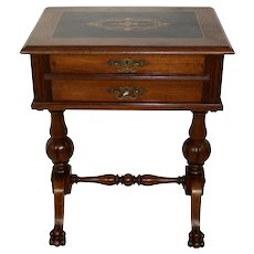 Sewing Table with Inlays