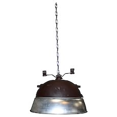 Industrial Oval Two-Tone Pendant Light Fixture