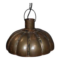 Industrial Fluted Metal Pendant Light Fixture (Small)