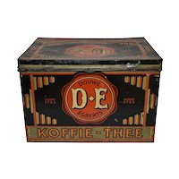 Dutch Douwe Egberts Tin Shop Box