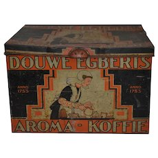 Dutch Douwe Egberts Tin Shop Box