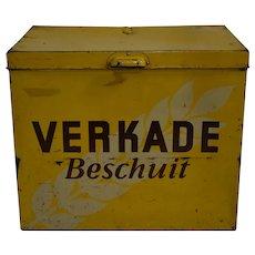 Dutch Verkade Beschuit Tin Box
