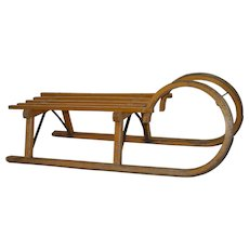 German Ram's Horn Bentwood Sled by Gloco