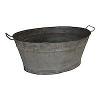 Galvanized Oval Tub