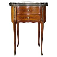 Kidney Shaped Nightstand with Inlays