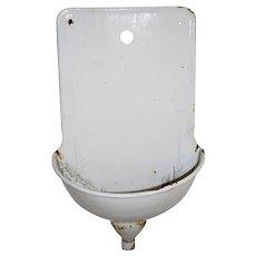 Vintage Enamel Wall Sink/Fountain