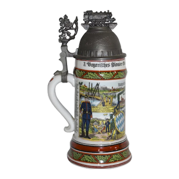 German Railroad Beer Stein