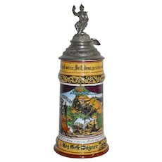 German Regimental Beer Stein