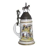 German Cavalry Beer Stein
