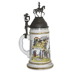 German Cavalry Beer Stein