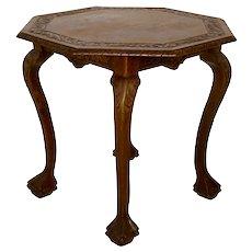 Oak Octagonal Side Table