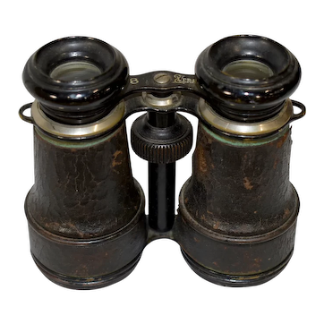 French Binoculars with Compass