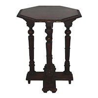 Oak Octagonal Side Table