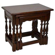 Oak Nesting Tables Set/3