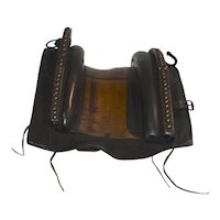 Leather and Wood Saddle